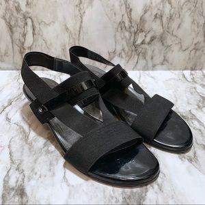 Stuart Weitzman | Black Leather Strappy Sandals